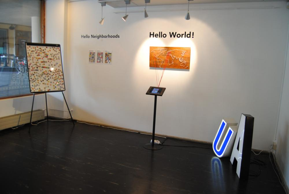 Urban Alphabets exhibition installation