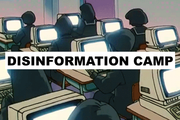 Disinformation camp visual