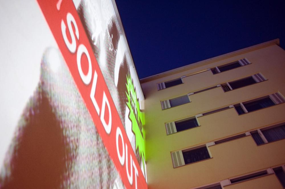 Dialogues Deconstructed City facade projection - sold out