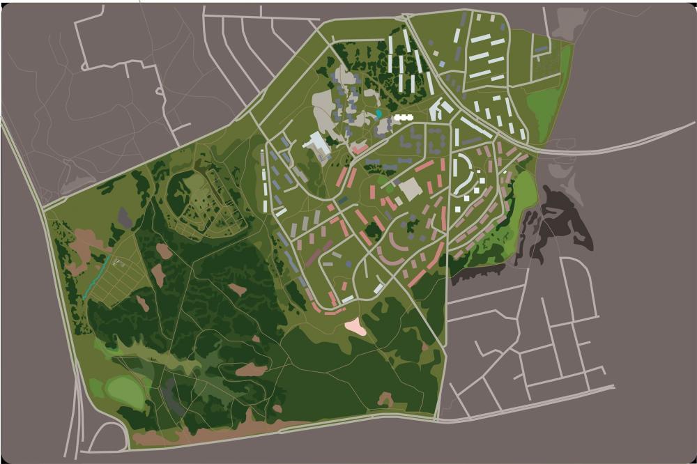 Maunula Map (work-in-progress), 2020, m-cult Maunula Helsinki